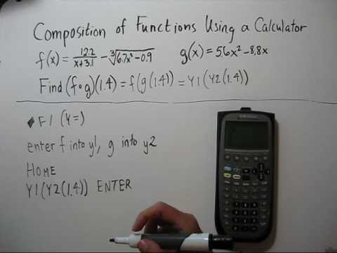 Composition of Functions Using a Calculator TI-89