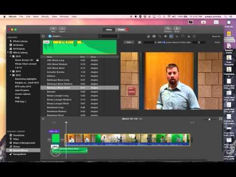 iMovie Basics - Adding background audio and adjusting audio levels, using cutaways, inserts and side