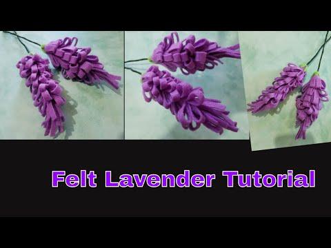 How to Make Felt Lavender Flower Tutorial