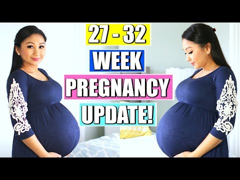 27-32 Week Pregnancy Update! | Contractions, Anemia, Flying at 30 weeks | Mommy Monday