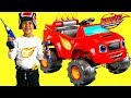 Unboxing Blaze and the Monster Machine Battery-Powered Ride On Monster Truck 6V Test Drive TBTFUNTV mp3