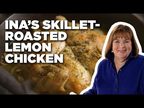 Ina's Skillet-Roasted Lemon Chicken | Food Network