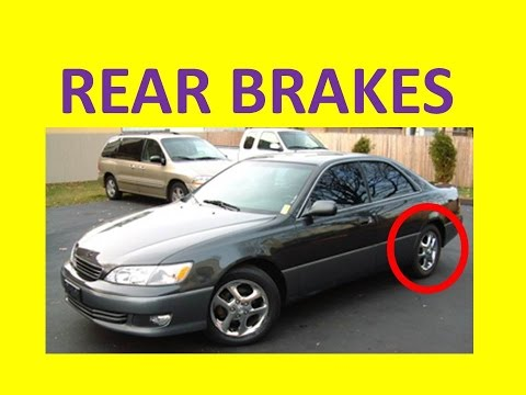 How to Replace Rear Brake Pads on a Lexus ES300 es 300 toyota camry