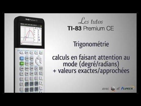 Tutorial TI-83 Premium CE : Trigo : Degré/radians, valeurs exactes/approchées