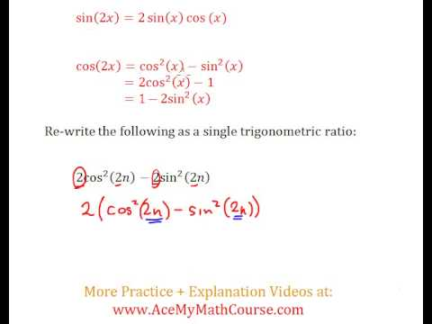 Double Angle Identities (Trigonometry) - Question #6