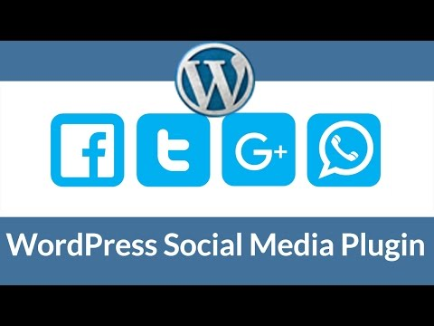 WordPress Social Media Plugin 2017