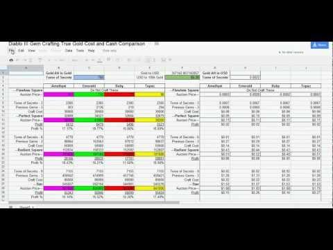 Diablo 3 Gem Crafting True Gold Cost (Guide Obsolete)