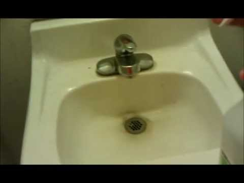 how to remove calcium from porcelain sink