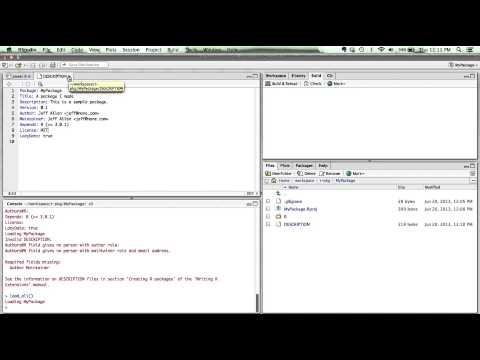 Create an R Package in RStudio