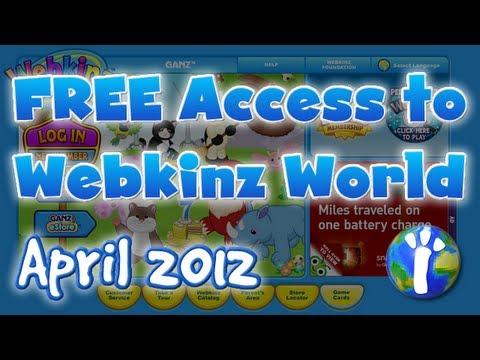 Free Access to Webkinz World