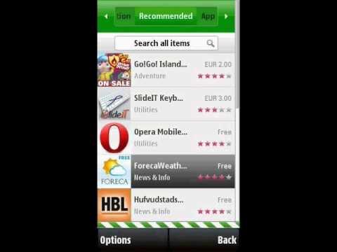 Nokia X6 Ovi application