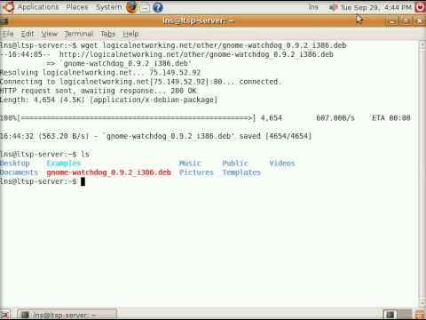 HOWTO: Install gnome-watchdog package for LTSP in Ubuntu Linux