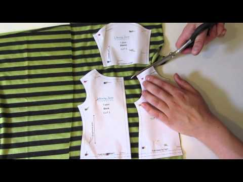 How To Cut Out The T-Shirt Pattern - With Melinda from Liberty Jane