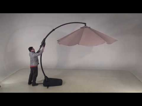 How to install Grand Patio 10 FT Offset Patio Umbrella with Crank Handle and Base