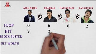 Allu Arjun Vs Prabhas Vs Mahesh Babu Vs Ram Charan Comparison 2018 Full Detail Biography Filmography