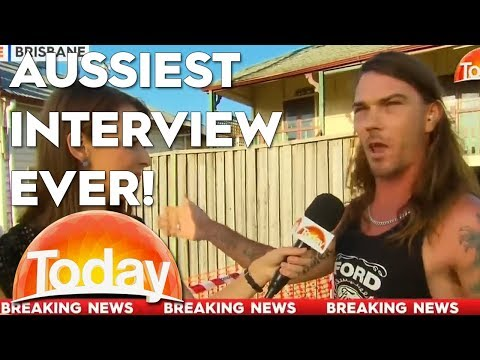 Aussiest. Interview. Ever. What a legend!