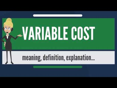 What is VARIABLE COST? What does VARIABLE COST mean? VARIABLE COST meaning & explanation