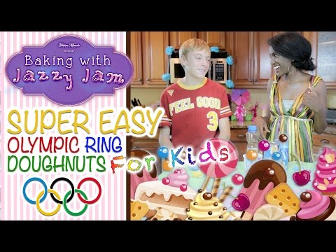 HOW TO MAKE OLYMPIC RING DOUGHNUTS FOR KIDS | BAKING WITH JAZZY JAM