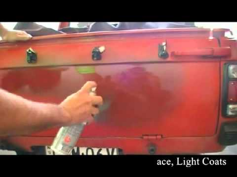 Chemtools Red Oxide Primer Datsun 1200 Utility tailgate restoration