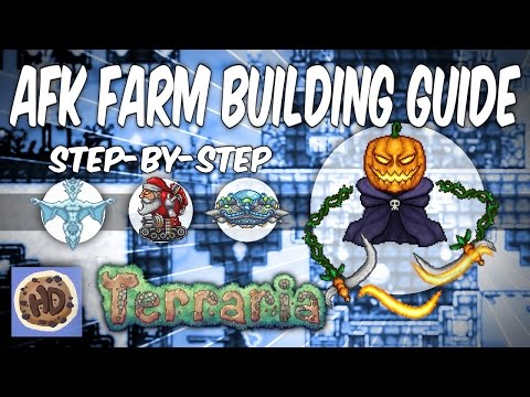 Terraria AFK Farms Step-by-Step Guide | Pumpkin Moon | Frost Moon (1.3 bosses events)