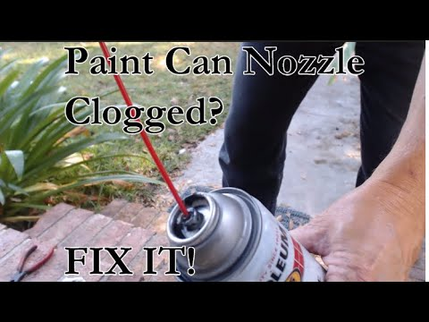Clearing the Nozzle on Clogged Spray Paint Cans