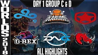Download Worlds 2018 Day 1 Highlights Play in Stage ALL GAMES Video