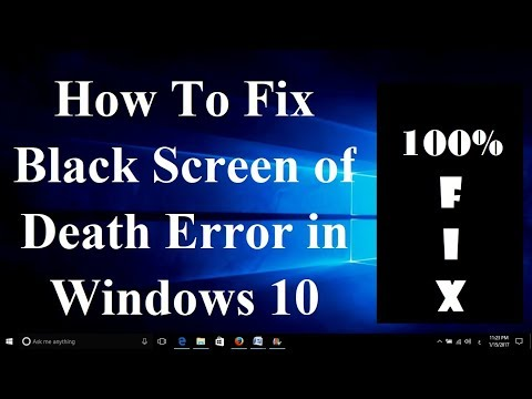 How To Fix Black Screen of Death Error in Windows 10