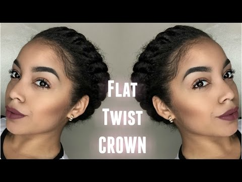 Flat Twist Crown | Protective Style