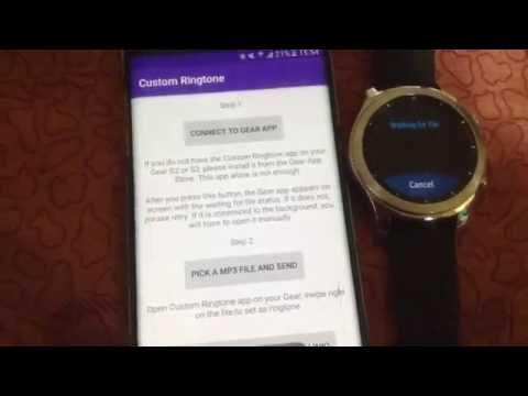 Custom Ringtone for Gear S3 and Gear S2