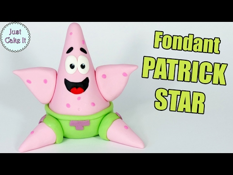 Fondant Patric Star figurine tutorial! How to make Patric Star (from Spongebob) cake topper