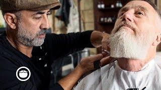 Master Barber Gives Stylish Haircut and Beard Trim   Cut & Grind