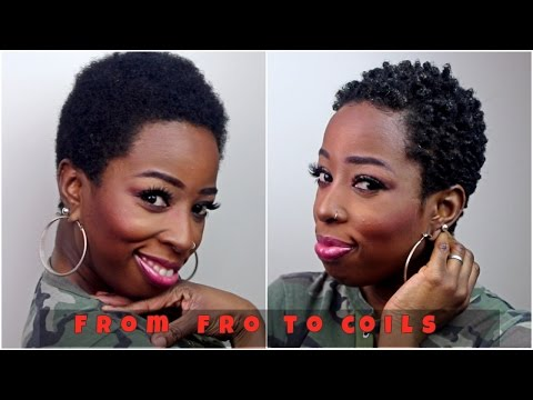 STYLING MY TWA  NATURAL HAIR WITH THE SPONGE
