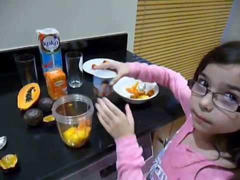 Papaya, Mango, Passion Fruit and Coconut Milk Smoothie