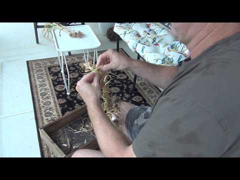 Garlic Braiding for Storage