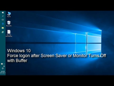 Windows 10 - Delay entering password after monitor off