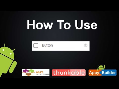 How to use button component in thunkabe or appybuilder || android development beginner #2