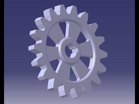 CATIA V5 || Gear Design || Part Design || CAD Tutorials || Mechanical Engineering