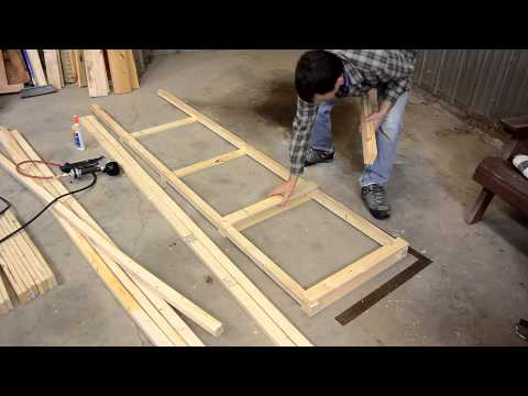 Building a big garage shelf