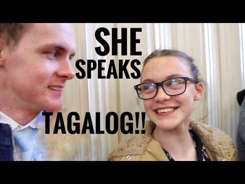 Foreigners speak Tagalog