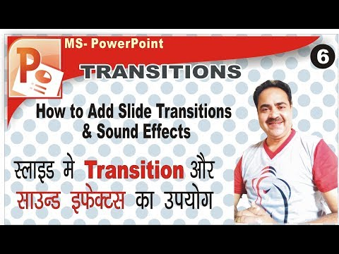 Applying Transitions and Sound Effects in PowerPoint Slide [Hindi]