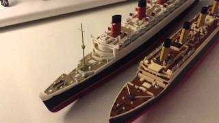A size comparison between RMS Queen Mary and RMS Titanic