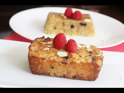 Eggless Custard Bread Pudding Baked in Cooker & Microwave