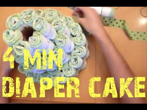 Diaper Cake In Under 4 Minutes