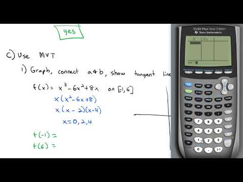 4.4 The Mean Value Theorem