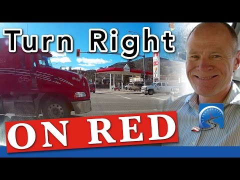 How to Turn Right At An Intersection On A Red Light | Pass A Road Test Smart