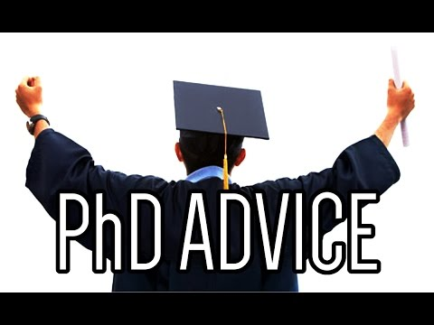 Advice to PhD applicants