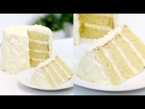 How to Make the PERFECT Vanilla Cake | Vanilla Birthday Cake | RECIPE