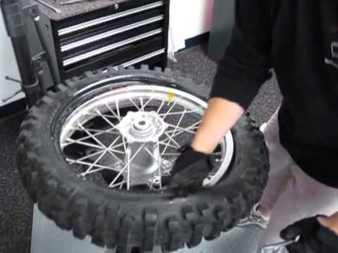 No-Mar Tire Changer - How to change dirt bike tires
