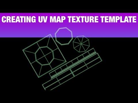 Creating UV MAP Texture Template Tutorial