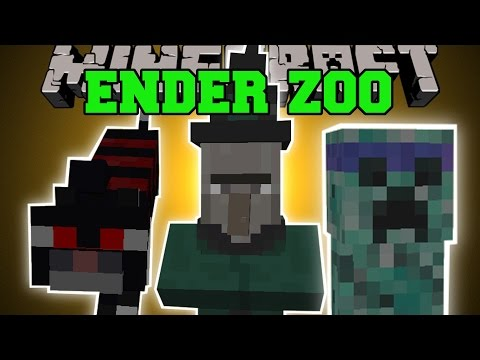 Minecraft: ENDER ZOO MOD (CRAZY CATS, TELEPORTING CREEPERS, & MORE!) Mod Showcase